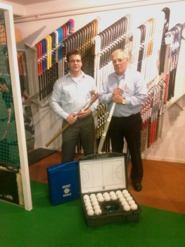 Koos Musman (re)  (Hockey World) en Ron Janssen (Jeugdplan Hockey)